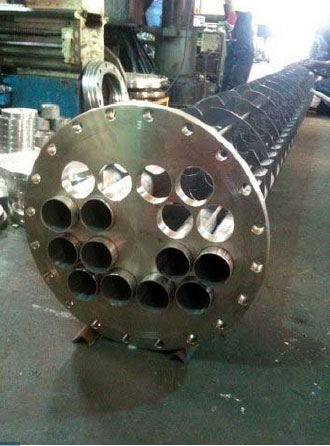 Municipal waste water treatment heat exchanger